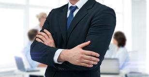 Close up of buisnessman in suit and tie Stock Photos