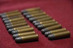 Close up of the Bullets Stock Photography