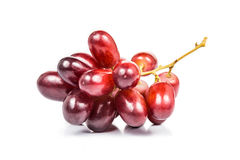 Close up of a bunch of crimson red grapes Stock Photography