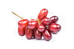Close up of a bunch of crimson red grapes Stock Photo