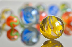 Close up of a bunch of marbles Royalty Free Stock Photography