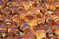 Close up of buns with chocolate Stock Photos