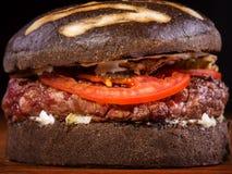 Close up of burger Stock Photos