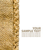 Close-up of burlap texture Royalty Free Stock Photos