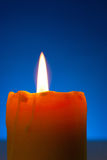 Close up of a burning candle Royalty Free Stock Photography