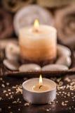 Close up of burning candle Royalty Free Stock Image