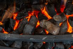 Cut wooden logs for a fireplace Stock Photos