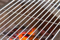 Close up of a burning hot fire Royalty Free Stock Photography
