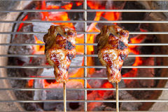 Close up of a burning hot fire Royalty Free Stock Photo
