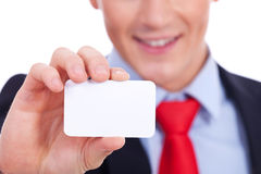 Close-up of business card Royalty Free Stock Image