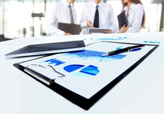 Close-up of business document Stock Photography