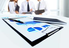 Close-up of business document Royalty Free Stock Photo