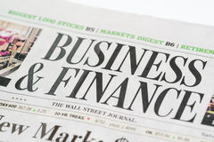 Chicago USA-Feb 12 2017:The Wall Street Journal Newspaper, Business & Finance Section (for editorial use only) stock image