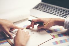 Close-up business hand in business success concept royalty free stock photo