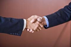Close up of business handshake Royalty Free Stock Image