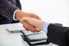 Close up of business handshake Stock Photos