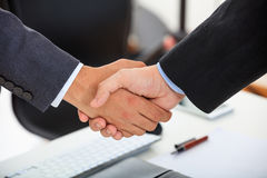 Close up of business handshake Royalty Free Stock Photography
