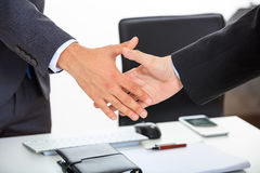 Close up of business handshake Stock Images