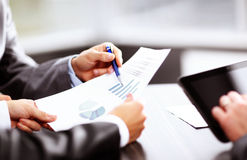 Close-up of business partners looking Royalty Free Stock Images