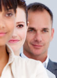 Close-up of business partners standing in a line Stock Photo