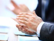 Close-up of business people clapping hands Royalty Free Stock Images