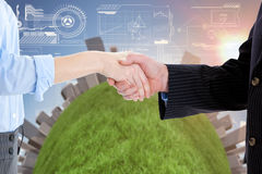 Close up of a business people closing a deal Royalty Free Stock Images
