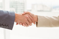 Close-up of business people shaking hands Stock Image