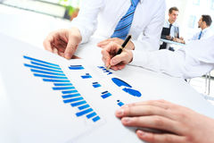 Close-up of business people working Royalty Free Stock Images