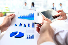Close-up of business people working Royalty Free Stock Image