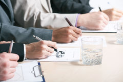 Close-up of business person hand Stock Image
