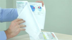 Close up of Business Report stock footage