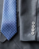 Close up of business suit jacket and tie Stock Photos