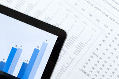 Close up of business tablet and diagrams Royalty Free Stock Image