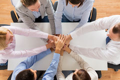 Close up of business team with hands on top Royalty Free Stock Photography