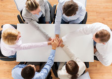 Close up of business team with hands on top Royalty Free Stock Photo