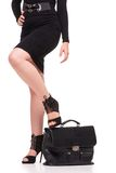Close up of business woman with briefcase Royalty Free Stock Images