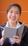 Business woman writing job Stock Image