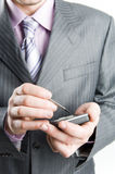 Close-up of a businessman Royalty Free Stock Image