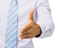 Close-Up Of Businessman Gesturing Handshake Stock Photography