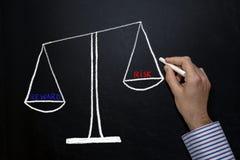Risk and reward balance stock images