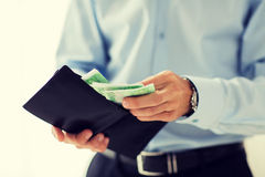 Close up of businessman hands holding money Royalty Free Stock Photo