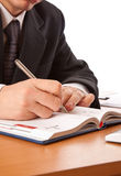 Close up on a businessman hands signing a contract Stock Photography