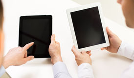 Close up of businessman hands with tablet pc Royalty Free Stock Photo