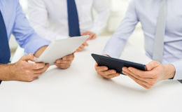 Close up of businessman hands with tablet pc Stock Photography