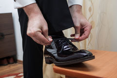 Businessman shoes Royalty Free Stock Photography
