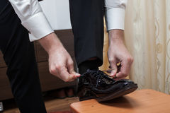 Businessman shoes Stock Images