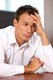 Close-up of businessman with head in hands Royalty Free Stock Image