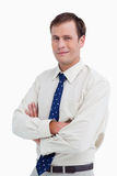 Close up of businessman with his arms crossed Royalty Free Stock Photos
