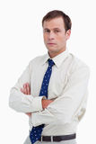 Close up of businessman with his arms folded Royalty Free Stock Photo