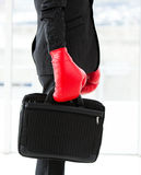 Close-up of a businessman holding a briefcase Stock Photos